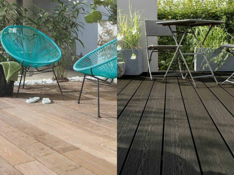pour ma terrasse bois massif ou composite femme actuelle le mag. Black Bedroom Furniture Sets. Home Design Ideas
