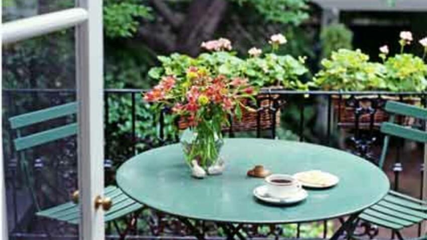 Sur le balcon et la terrasse