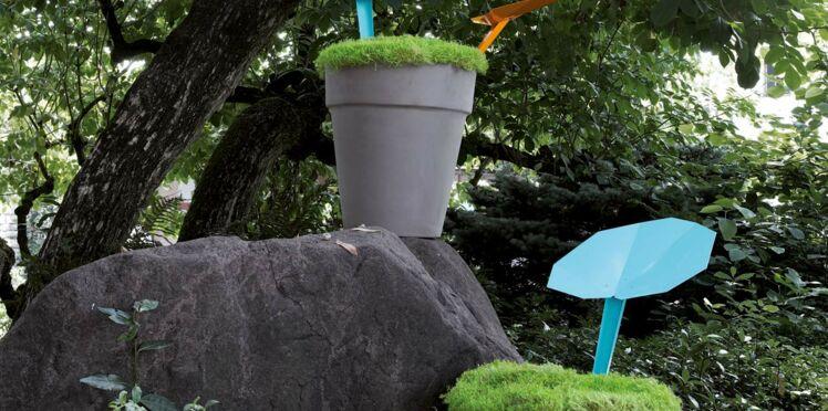 Un collecteur d'eau de pluie design