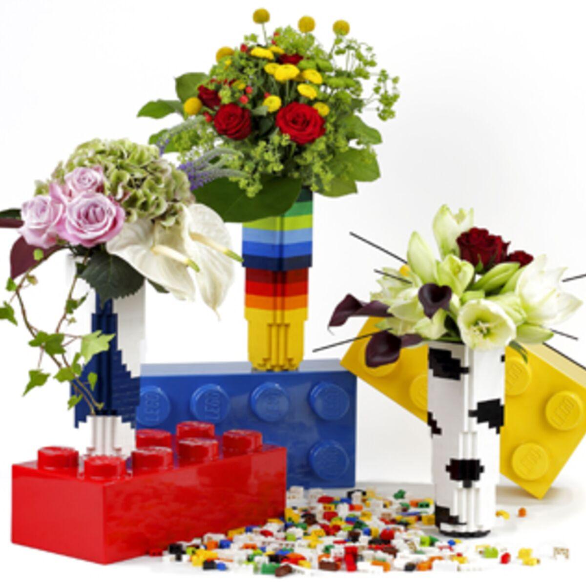 Comment Faire Un Bouquet De Roses comment faire des vases en lego ! : femme actuelle le mag