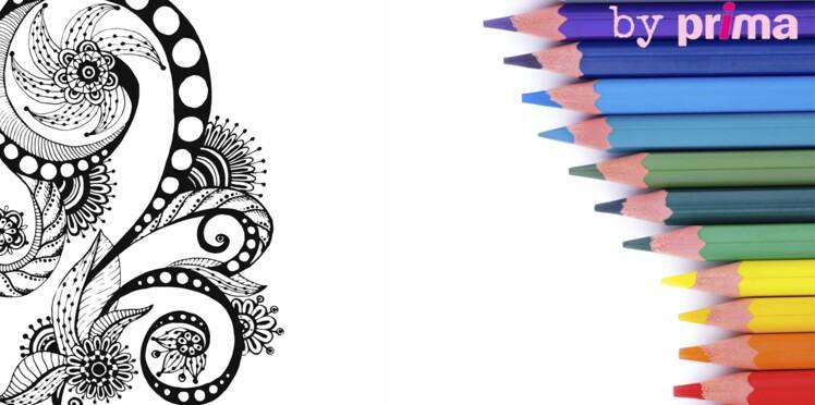 Coloriage et mandala zen à imprimer