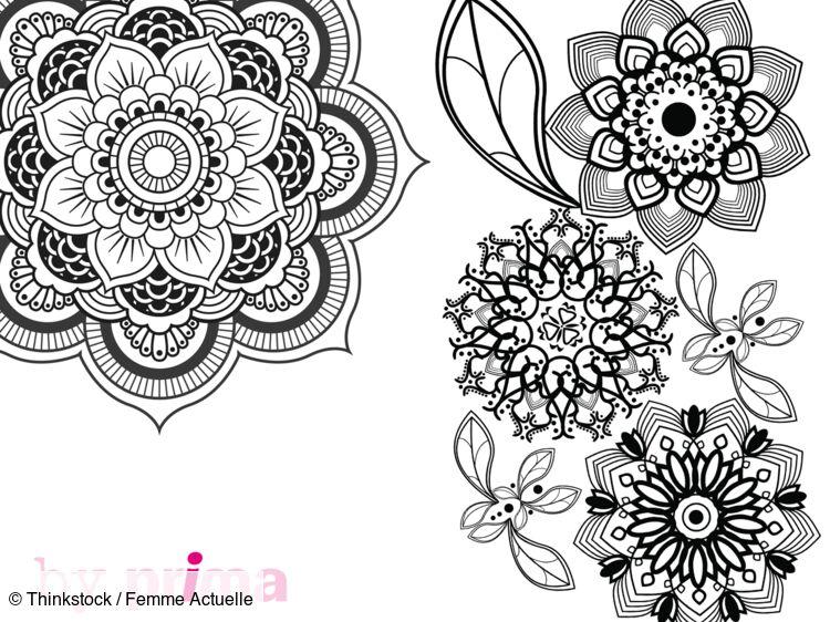Mandala Et Coloriage Fleur à Imprimer Femme Actuelle Le Mag