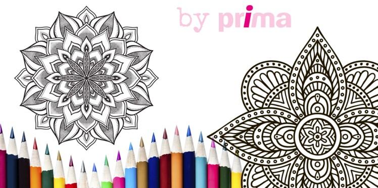 Mandalas à imprimer, des rosaces faciles à colorier