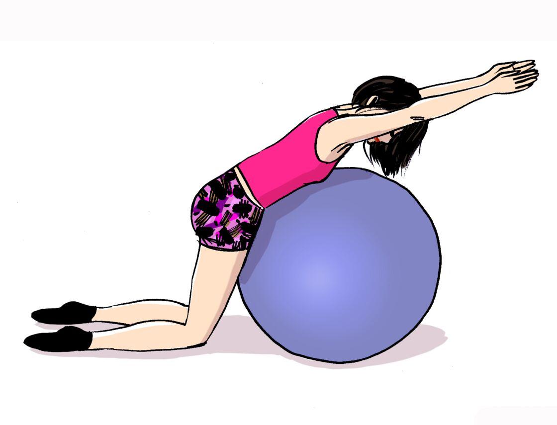 5 exos avec un gros ballon : travail de la posture, renforcement des