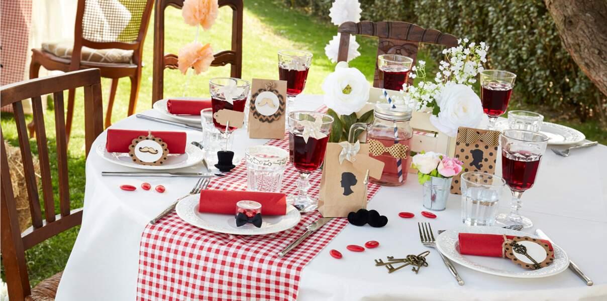 Table ambiance guinguette