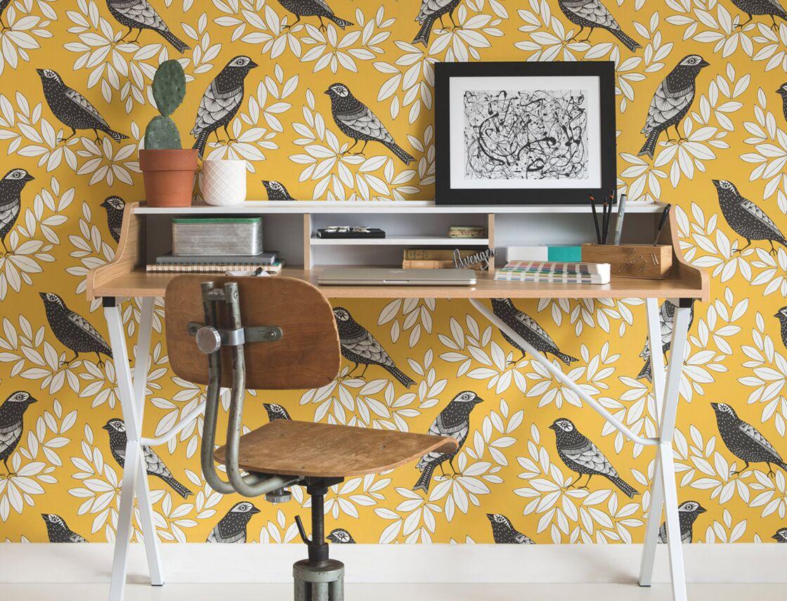 papier peint imprim c 39 est tendance femme actuelle le mag. Black Bedroom Furniture Sets. Home Design Ideas