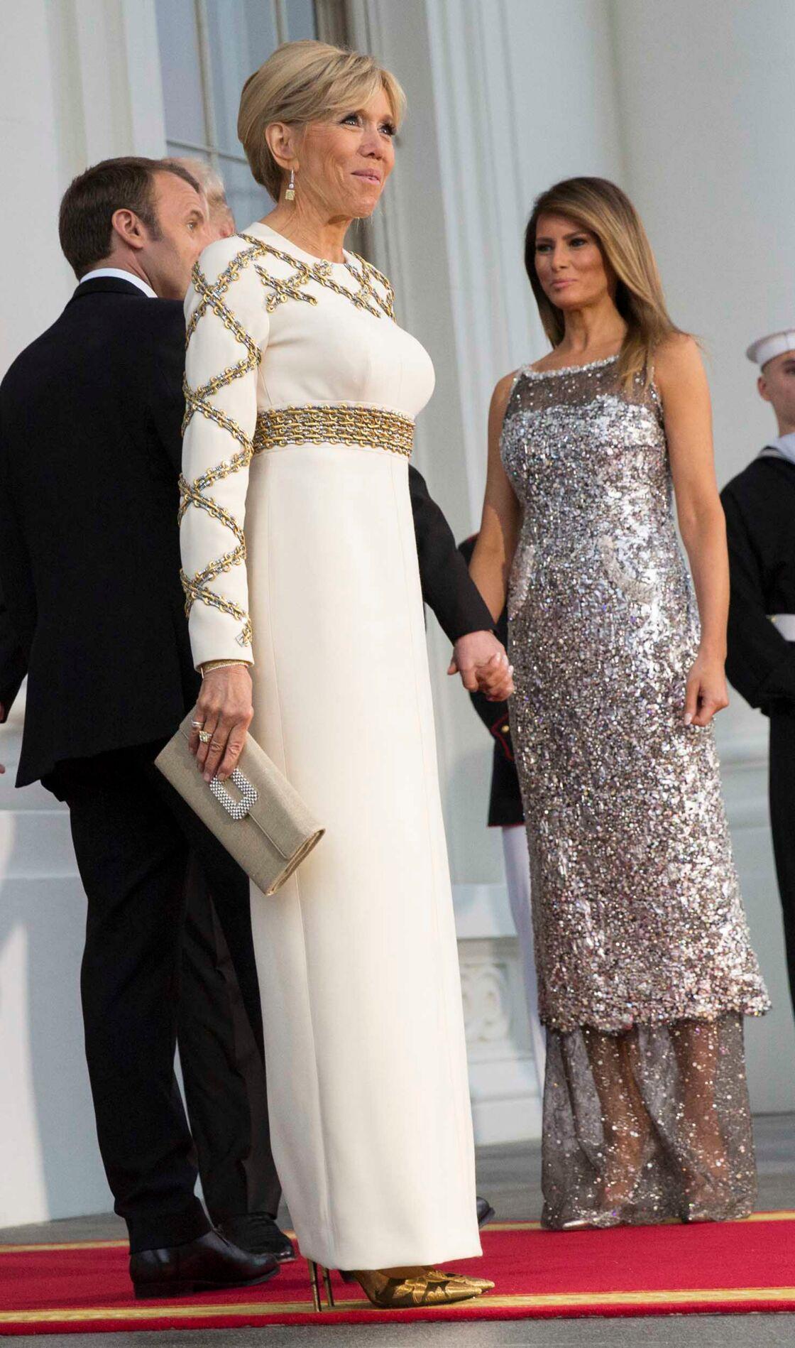 Robes De TrumpÉblouissantes En Macronamp; Soirée Melania Brigitte m80vONnw