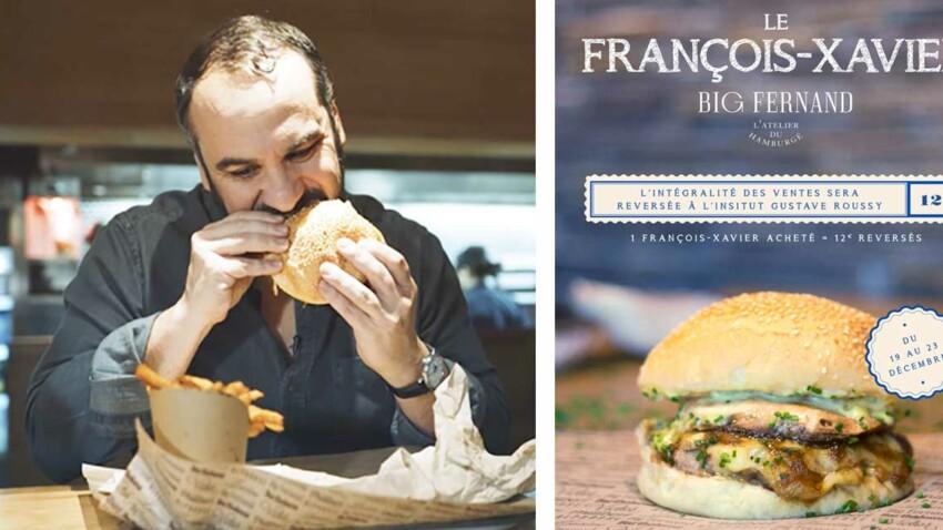 François-Xavier Demaison et les hamburgés Big Fernand soutiennent l'institut Gustave Roussy