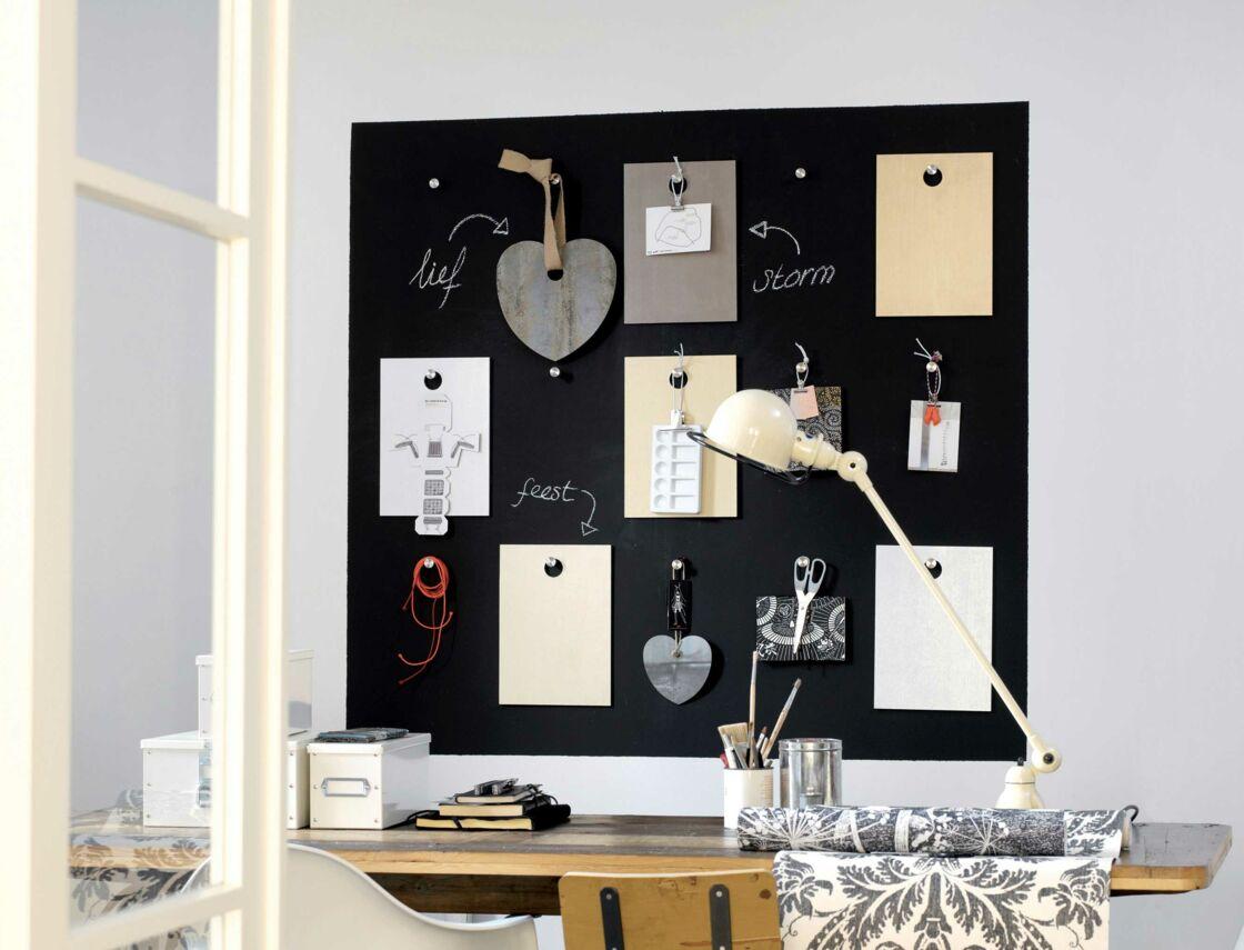 Tableau Noir Deco Pour Cuisine diy peinture : un tableau noir et magnétique : femme