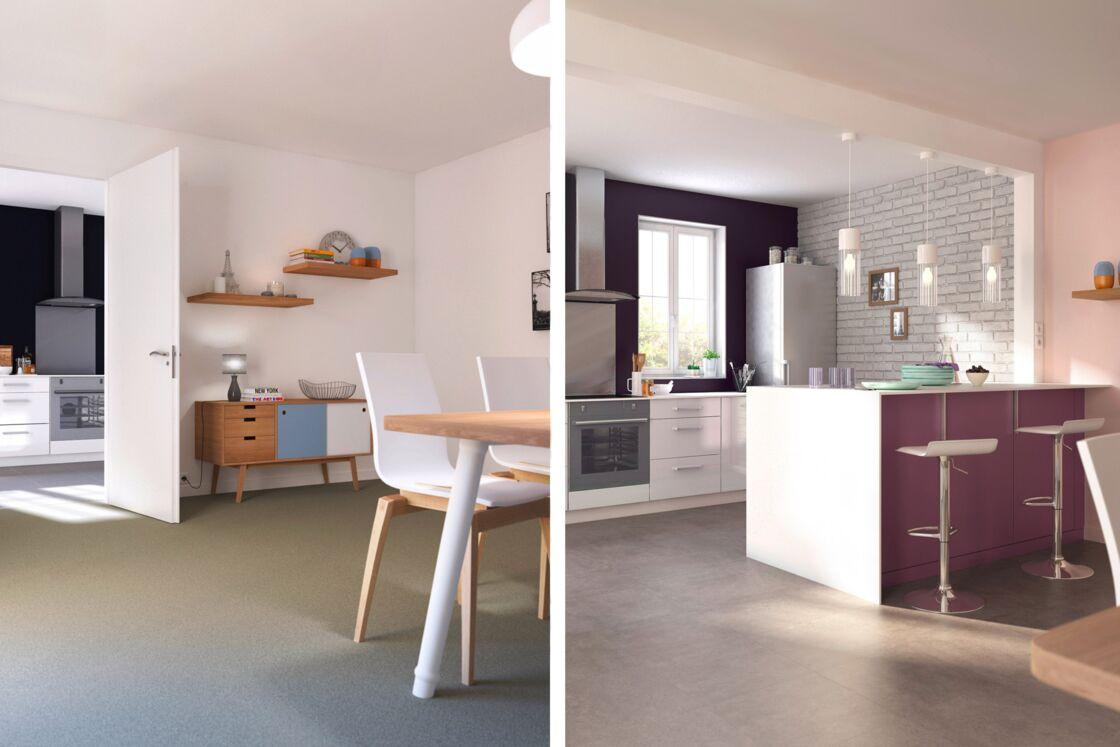 avant/après : deux solutions pour aménager votre cuisine : femme