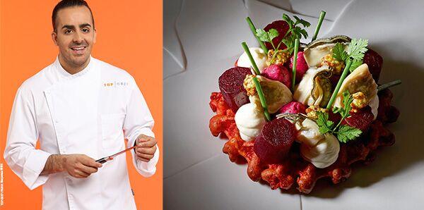 Ce fils de restaurateur est le chef exécutif du restaurant Temple à Pékin.  Ses créations culinaires sont toujours raffinées avec une touche de  féminité.