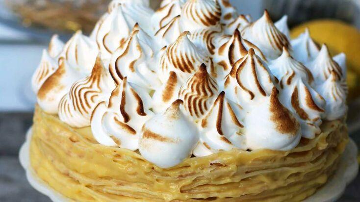 VIDEO - Un gâteau de crêpes au lemon curd pour la Chandeleur