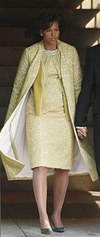 b472ce40178 Michelle Obama   son look à l investiture - Décryptage du look de ...