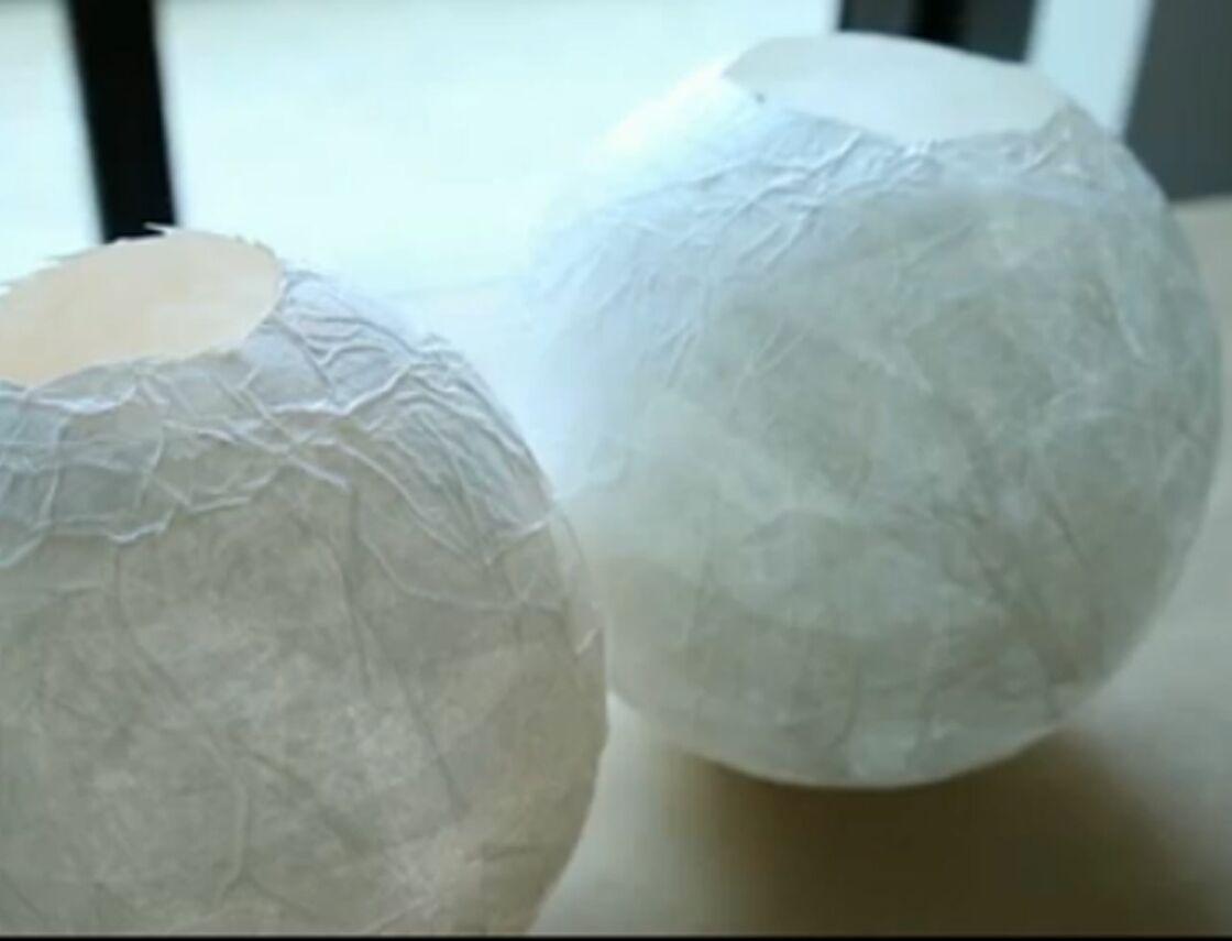 Comment Faire Des Boules En Papier un photophore en papier mâché : femme actuelle le mag