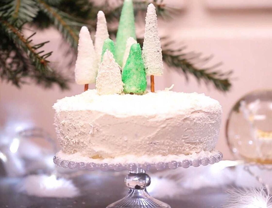 Video Des Sapins En Pate D Amande Pour Decorer Votre Dessert De
