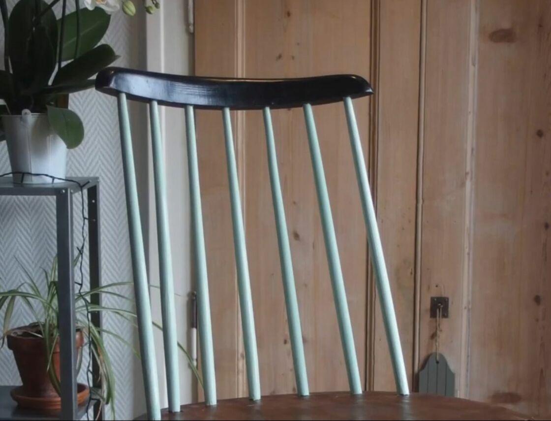 Relooker Une Chaise Haute En Bois diy : comment relooker une chaise en bois : femme actuelle