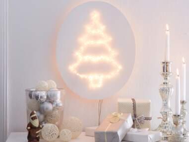 Une déco de table tout en blanc pour Noël