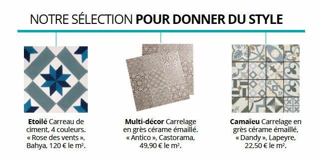 Carrelage Les Nouveautés Pour La Salle De Bains Femme Actuelle - Carrelage salle de bain et tapis renault espace 4