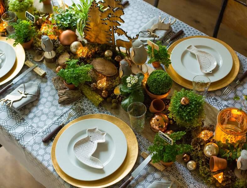 Table de Noël inspiration nature