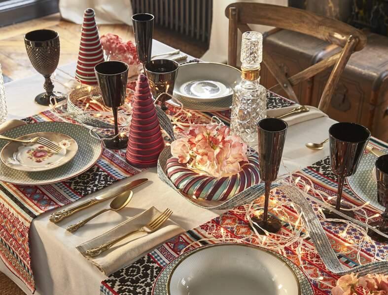 Table de Noël inspiration slave