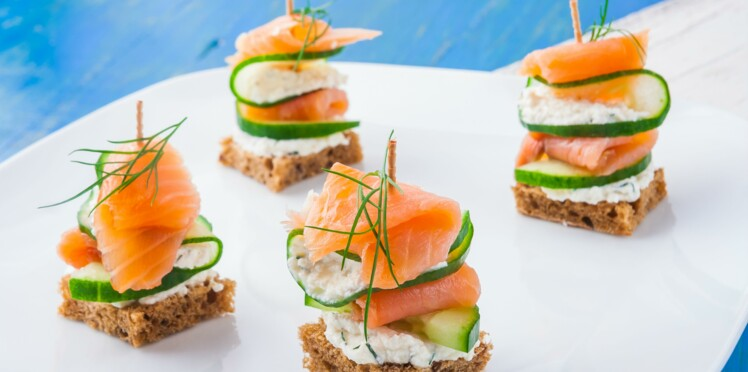 apro de fte toasts et canaps light - Canapes Aperitif Originaux