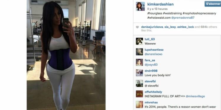 Le secret de la taille de guêpe de Kim Kardashian ? Un corset !