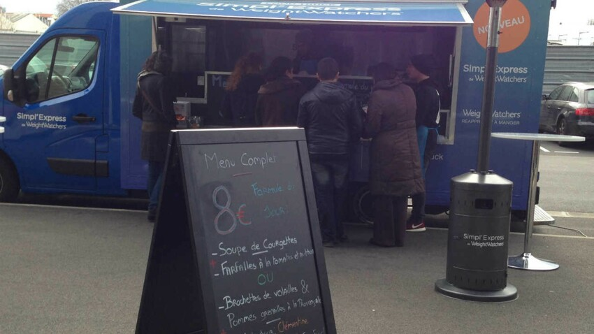 Un food truck pour découvrir le nouveau programme Weight Watchers