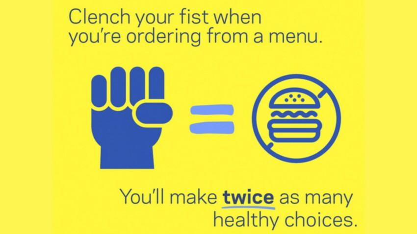 Serrez le poing pour manger moins !