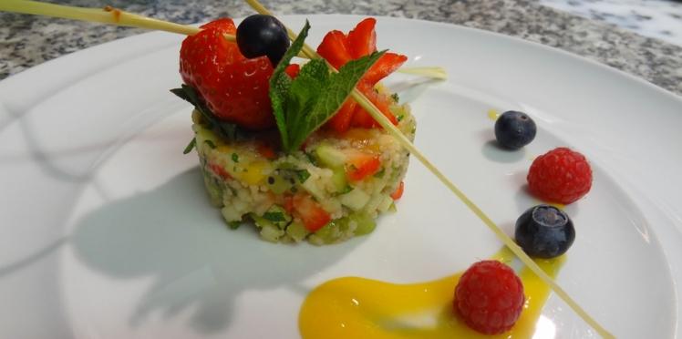Recette minceur : taboulé de fruits frais