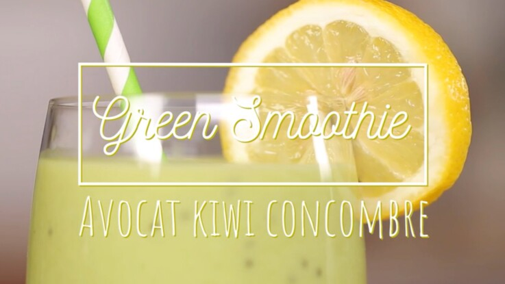 Green smoothie : avocat-kiwi-concombre