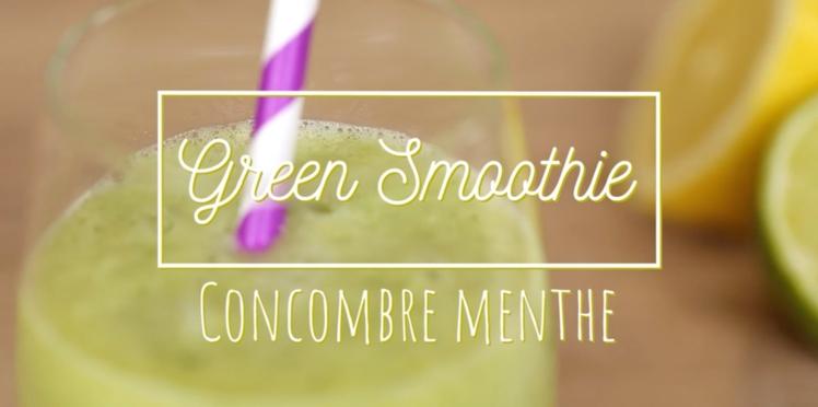Green smoothie : concombre-menthe