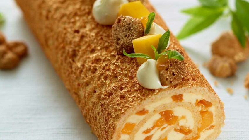 La bûche light, par Christophe Adam et Pure Via