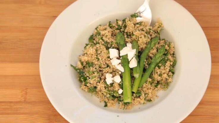 Recette minceur : le quinoa aux asperges