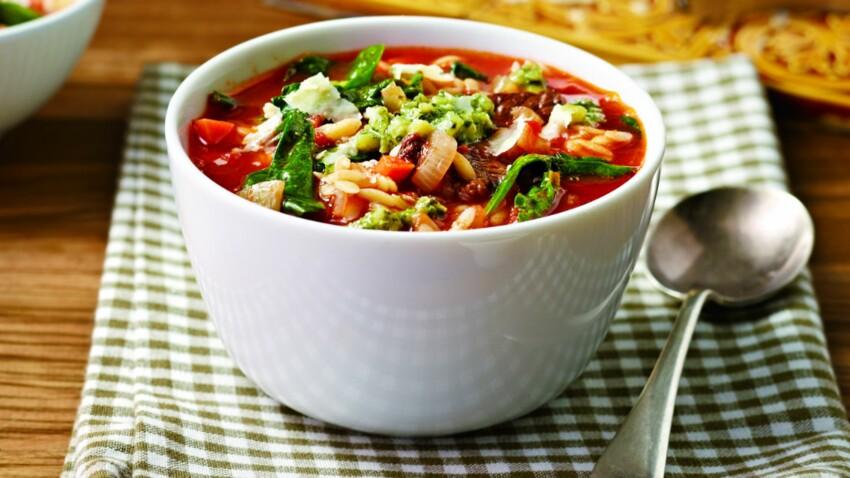 Des recettes de soupes light