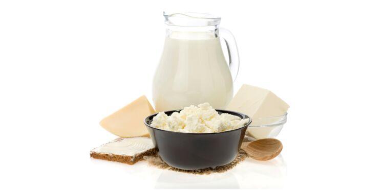 Tableau des calories : les produits laitiers