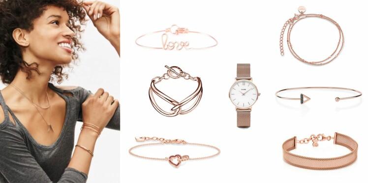 Or rose : les plus beaux bracelets à accumuler à vos poignets