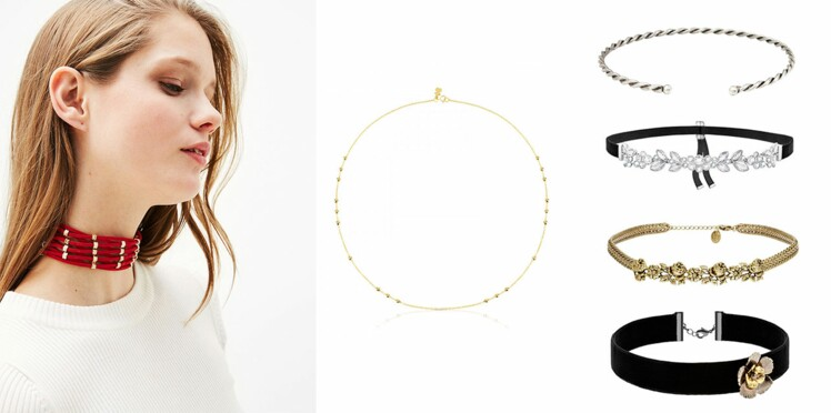 Collier ras de cou : on adopte le choker qui fait son grand retour !