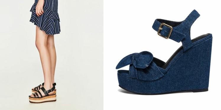 Tendance chaussures : à nous les talons compensés pour l'été