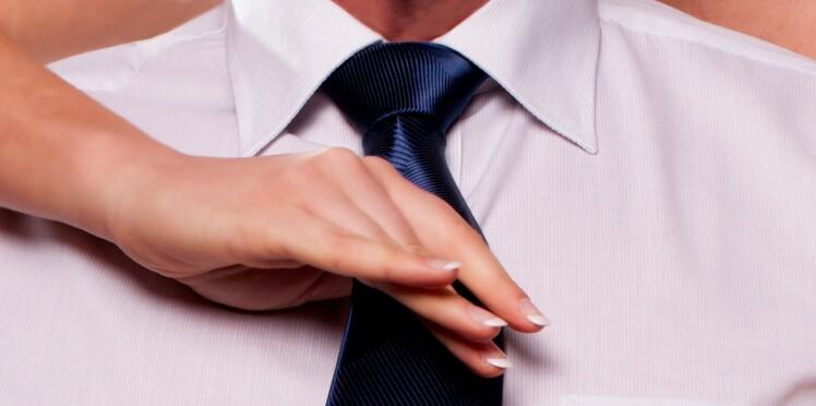 comment faire un noeud de cravate votre homme ou votre. Black Bedroom Furniture Sets. Home Design Ideas
