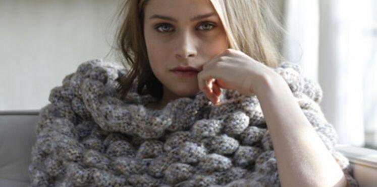 Je me tricote un bandeau pour les épaules