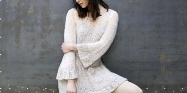 Modèle de tricot : la robe pull vaporeuse