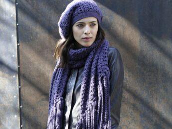 Modèle de tricot : le chèche
