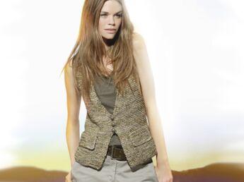 Veste longue tricot laine