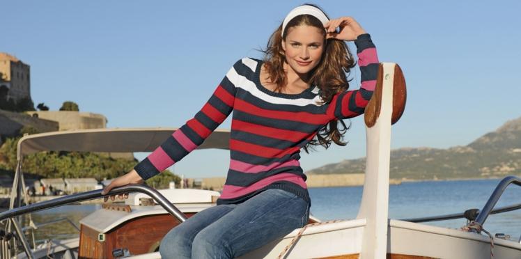 Un pull rayé à tricoter