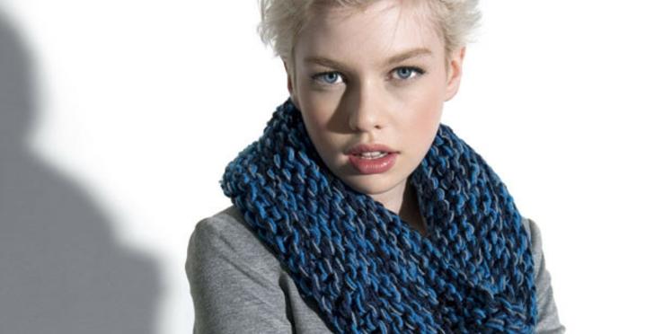Un snood à tricoter