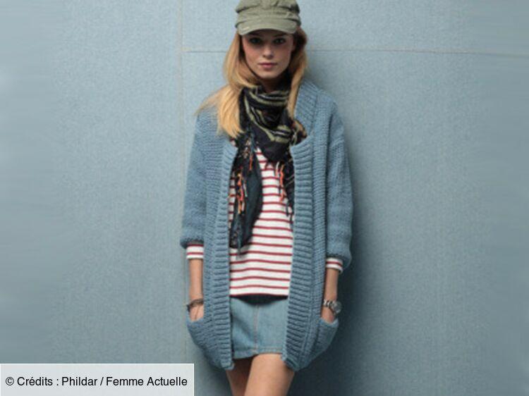 Un Long Gilet à Tricoter Tailles Et Qualité Femme