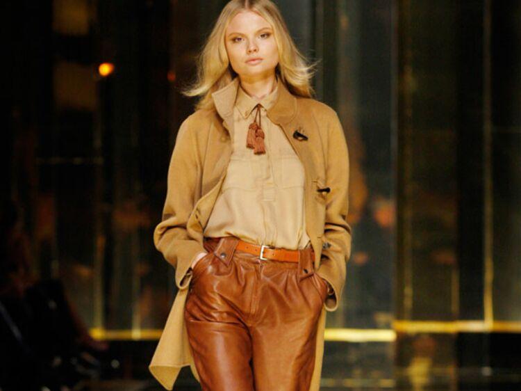 Veste cuir femme couleur caramel