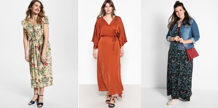 Robe longue grande taille : comment porter la robe longue quand on est ronde ?