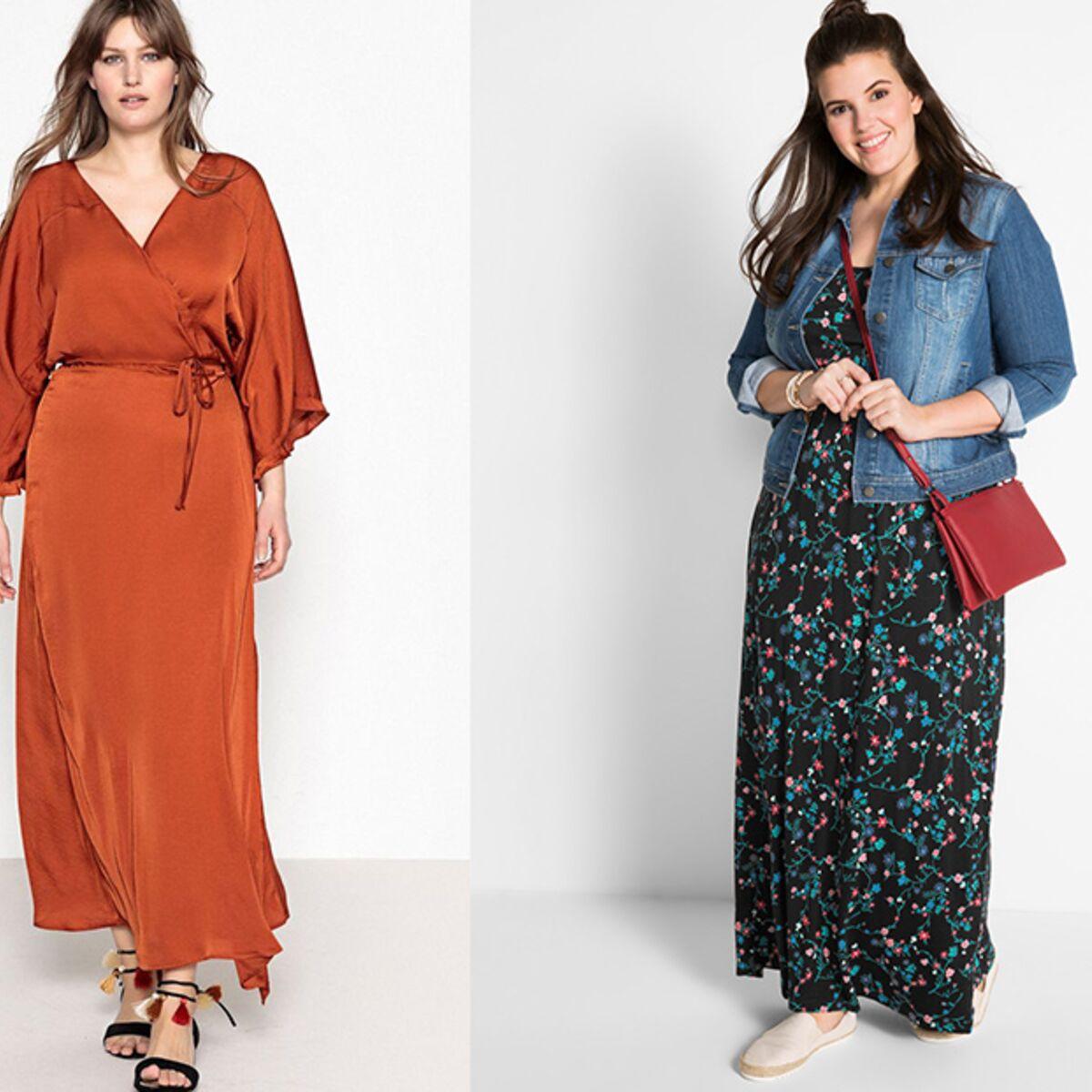 Robe Longue Grande Taille Comment Porter La Robe Longue Quand On Est Ronde Femme Actuelle Le Mag