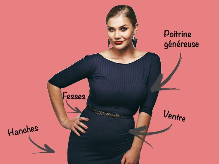 Mode ronde   5 astuces pour bien choisir vos vêtements selon vos formes    Femme Actuelle Le MAG 4d9ecc42eb4